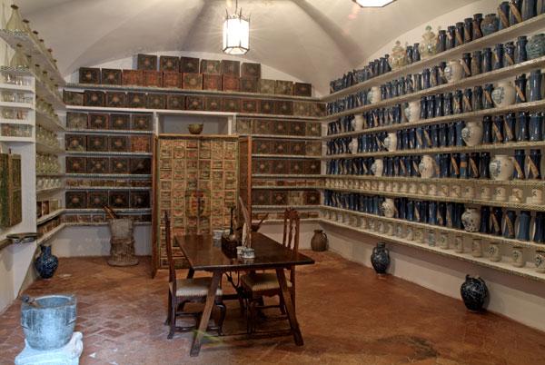 Farmacia del Hospital Tavera. Imagen de http://www.fundacionmedinaceli.org/