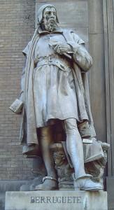 Estatua de Alonso Berruguete por José Alcoverro. Fotografía de Luis García